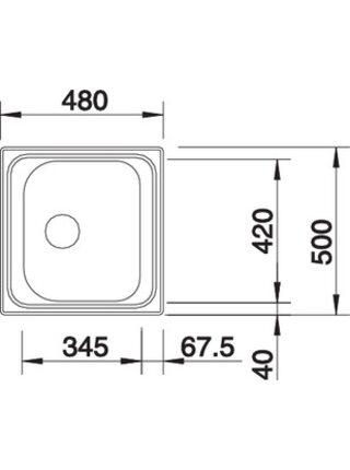 516611 Мойка BLANCO TIPO 45-C (сталь матовая)