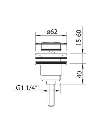 60701 CLEVER LEO Донный клапан