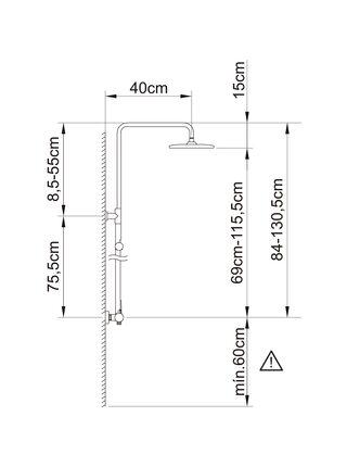61016 CLEVER PANAM EVO XTREME Душевая система
