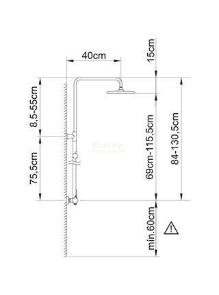 61019 CLEVER PANAM EVO XTREME Душевая система черный