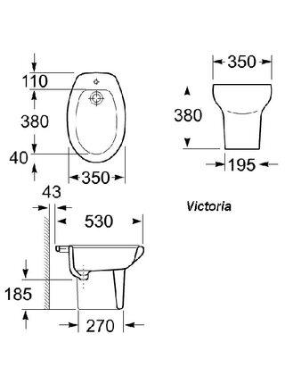 Биде напольное Roca Victoria 357390000