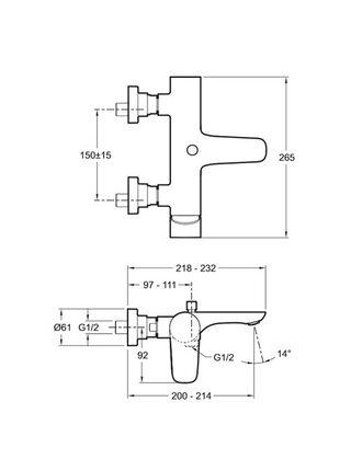 Смеситель для ванны Aleo E72282-CP Jacob Delafon