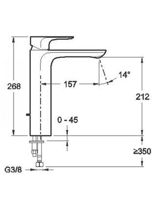 Смеситель высокий для раковины Aleo E72299-4-CP Jacob Delafon