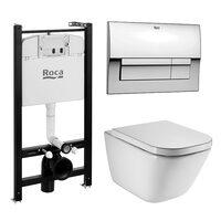 ПЭК Roca Meridian Pack 893104100 подвесной унитаз + инсталляция + кнопка + сиденье