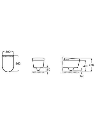 Унитаз подвесной безободковый Roca Inspira in-wash 803060001