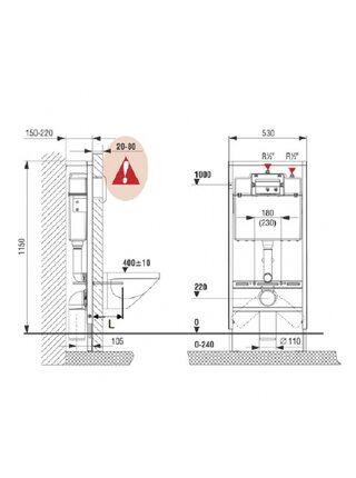 Комплект Roca Pack Mateo 893100010 подвесной унитаз с крышкой-сиденьем микролифт, инсталляцией и кнопкой смыва