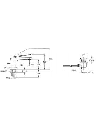 Смеситель для раковины Avid E97345-CP Jacob Delafon