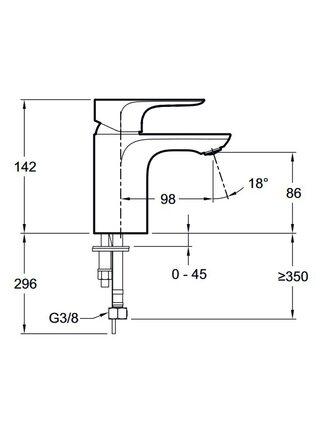 Смеситель для раковины Aleo E72277-4-CP Jacob Delafon