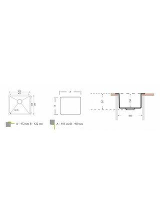 Кухонная мойка ОПТИМА 451.400 Florentina (450х400х210)