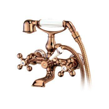 G3265-3 Смеситель для ванны, красное золото, рисунок/керамика GAPPO