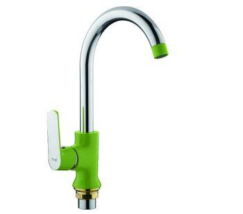 F4033 Смеситель для кухни, зеленый/хром FRAP