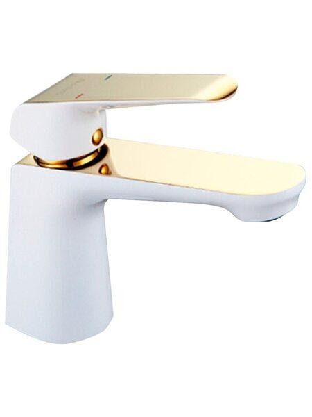 G1080 Смеситель для раковины , белый/золото GAPPO