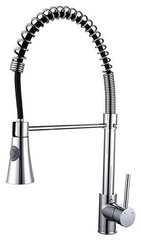 F4452 смеситель для кухни с гибким носиком FRAP