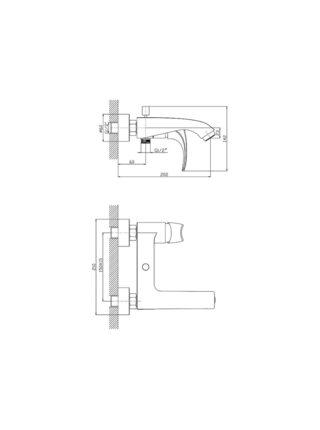 G3250-8 Смеситель для ванны GAPPO