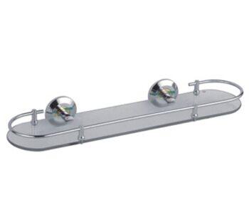 F1807-1 Полка стеклянная хром/золото 520 FRAP