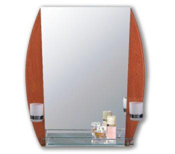F640-37 Зеркало с полкой 600*800, светло-коричневый FRAP