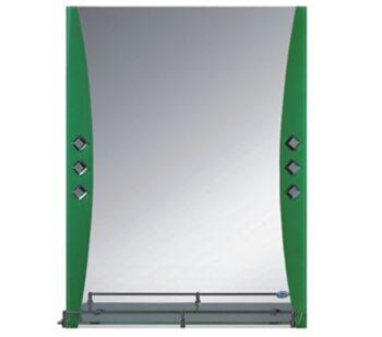 F673 Зеркало с полкой 600*800, зеленое FRAP