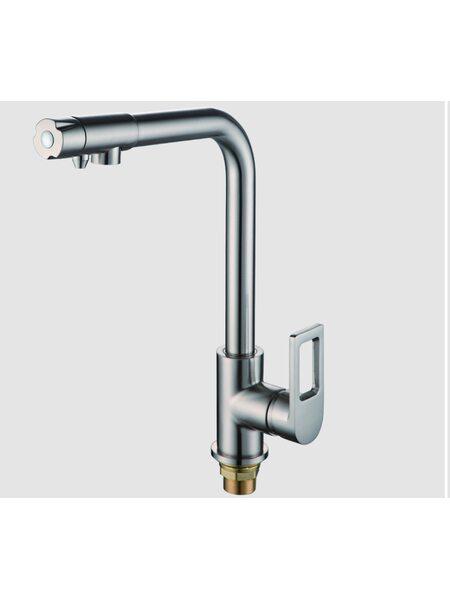 F4372-5 смеситель для кухни с подключением фильтра питьевой воды, сатин
