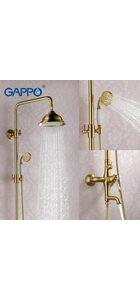 G2497-4 Душевая система, бронза с хрустальной ручкой GAPPO