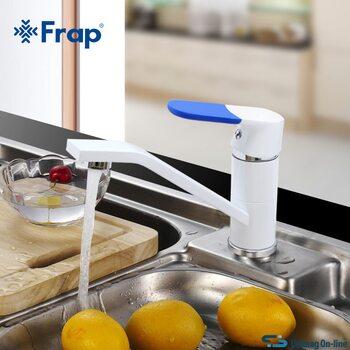 F4534 Смеситель для кухни, белый FRAP