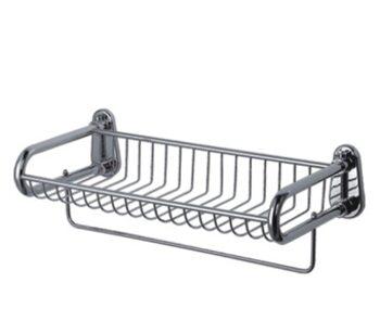 F336 Полка с полотенцедержателем метал/хром FRAP