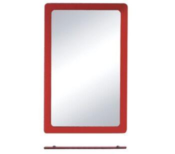F647 Зеркало с полкой 600*800, красное FRAP