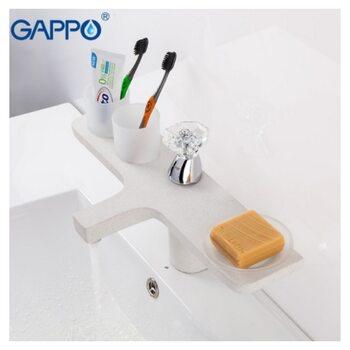 G1096 Смеситель для раковины,белый/кварц GAPPO
