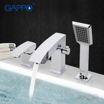 G1107 Смеситель для ванной врезной на 3 отверстия GAPPO