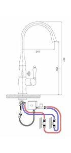 G521 Смеситель для кухни, сенсорный/механический GAPPO
