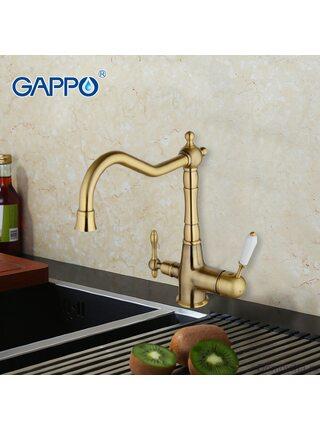 G4391-4 Смеситель для кухни с фильтром д/питьевой воды, бронза GAPPO