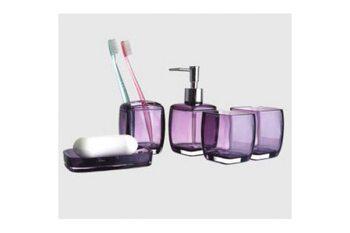 F301-3 Набор аксессуаров для ванной комнаты. фиолетовый