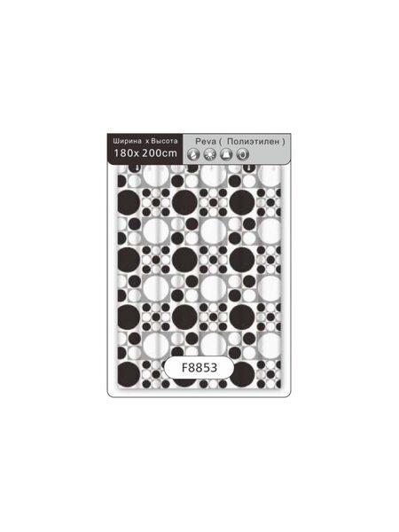 F8853 Штора для ванной Peva/Полиэтилен 180cm*200cm рисунок FRAP
