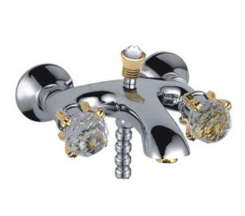 F3088 Смеситель для ванны, золото, хрустальные ручки FRAP