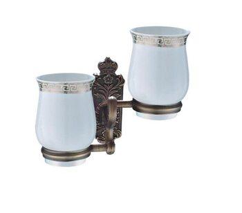 G3608 2-стаканов/керамика с держателем бронза GAPPO