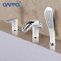 G1148-8 смеситель для ванны на 3 отверстия белый GAPPO