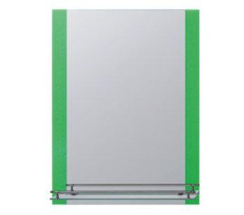 F618 Зеркало с полкой 600*800, зеленый FRAP