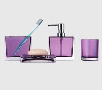 F302-3 набор аксессуаров для ванной комнаты. фиолетовый
