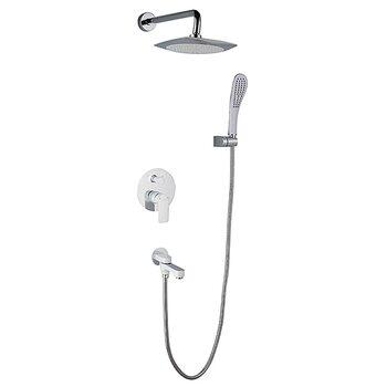 G7148-8 Смеситель для ванны встроенный с 3-функциями, белый GAPPO