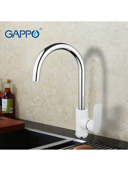 G4048 Смеситель для кухни, белый GAPPO
