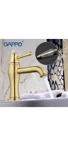 G1097-4 cмеситель для раковины с хрустальной ручкой, бронза GAPPO