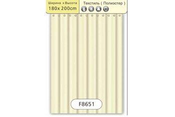 F8651 Штора для ванной Текстиль/Полиэстер 180cm*200cm бежевый FRAP