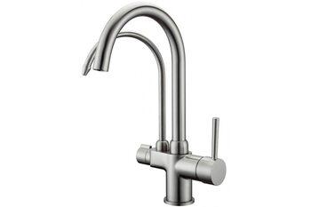 G4398-10 Смеситель для кухни с фильтром д/питьевой воды, сатин GAPPO