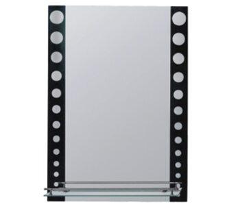 F619 Зеркало с полкой 500*700, черный FRAP