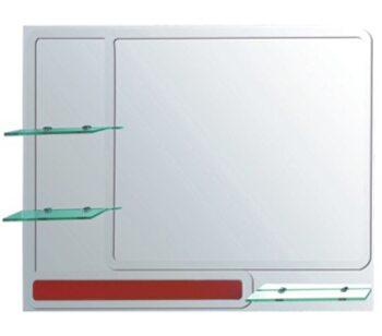 F654 Зеркало с полкой 900*650, красное FRAP