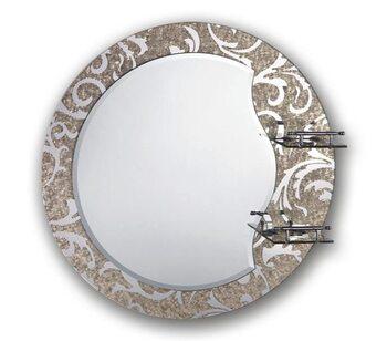 F655 Зеркало с полкой и рисунком 600*600 FRAP