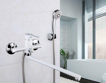 F2241 Смеситель для ванны, белый/хром FRAP