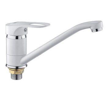 F4928-12 Смеситель для кухни, белый FRAP