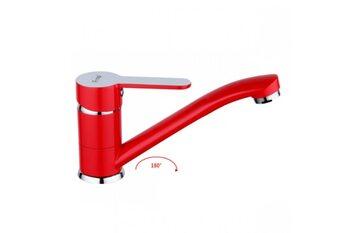 F4543 Смеситель для кухни, красный FRAP