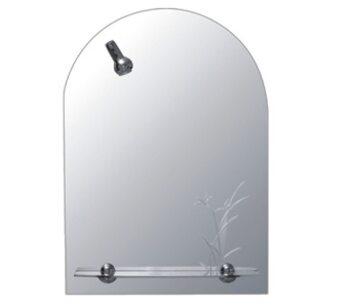 F632 Зеркало с полкой и светильником 500*700 FRAP