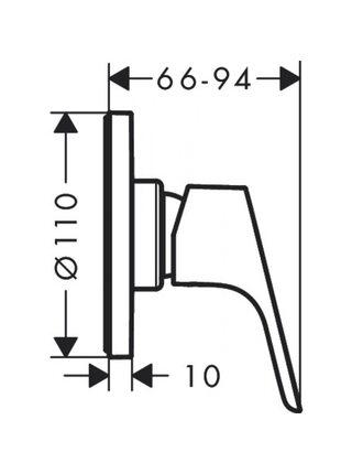 Смеситель для душа Hansgrohe Focus хром, 31961000